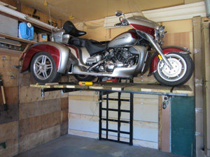 Motorcycle atv lifts for the garage in parrish fl for Garage yamaha scooter