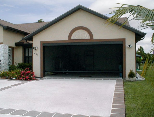 Residential commercial screen doors in sarasota fl 2 car garage doors